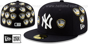 Yankees SPIKE LEE GOLD-GLOVES Navy Fitted Hat by New Era