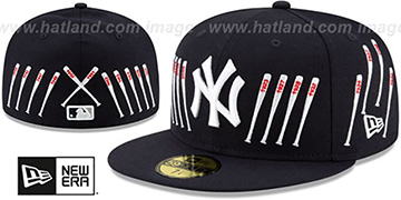 Yankees SPIKE LEE TIPPED-BATS Navy Fitted Hat by New Era