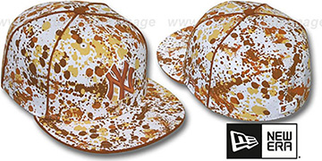 Yankees 'SPLATTER' White-Orange Fitted Hat by New Era