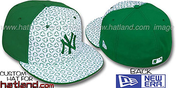 Yankees 'ST PATS FLOCKING PINWHEEL' White-Kelly Fitted Hat by New Era