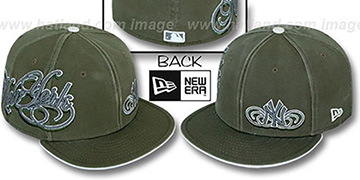 Yankees SULTAN Olive Fitted Hat by New Era