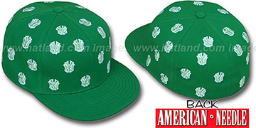 Yankees 'SUMMERTIME ALL-OVER' Green Fitted Hat by American Needle