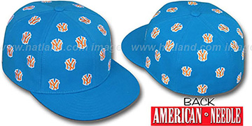 Yankees 'SUMMERTIME ALL-OVER' Turquoise Fitted Hat by American Needle