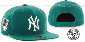 Yankees 'SURE-SHOT SNAPBACK' Aqua Hat by Twins 47 Brand