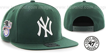 Yankees SURE-SHOT SNAPBACK Dark Green Hat by Twins 47 Brand