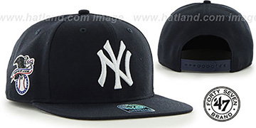 Yankees SURE-SHOT SNAPBACK Navy Hat by Twins 47 Brand