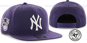 Yankees 'SURE-SHOT SNAPBACK' Purple Hat by Twins 47 Brand