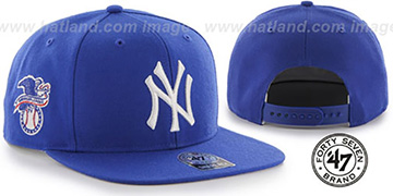 Yankees SURE-SHOT SNAPBACK Royal Hat by Twins 47 Brand