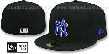 Yankees 'TEAM-BASIC' Black-Royal Fitted Hat by New Era