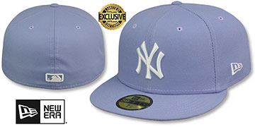 Yankees TEAM-BASIC Lavender-White Fitted Hat by New Era