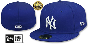 Yankees TEAM-BASIC Royal-White Fitted Hat by New Era