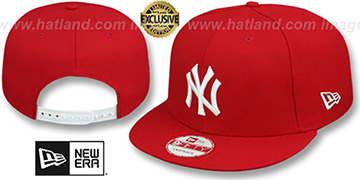 Yankees TEAM-BASIC SNAPBACK Red-White Hat by New Era