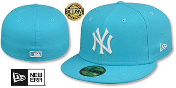 Yankees TEAM-BASIC Vice Blue-White Fitted Hat by New Era