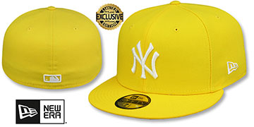 Yankees TEAM-BASIC Yellow-White Fitted Hat by New Era