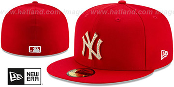 Yankees TEAM-GEM Red Fitted Hat by New Era