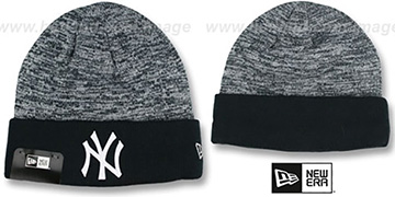 Yankees 'TEAM-RAPID' Navy-White Knit Beanie Hat by New Era