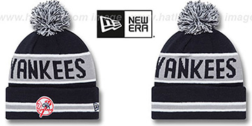 Yankees 'THE-COACH ALTERNATE' Navy Knit Beanie Hat by New Era