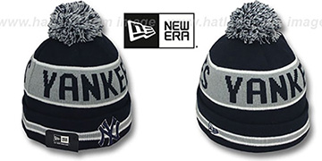 Yankees 'THE-COACH' Navy Knit Beanie Hat by New Era