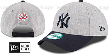 Yankees 'THE-LEAGUE HEATHER STRAPBACK' Grey-Navy Hat by New Era
