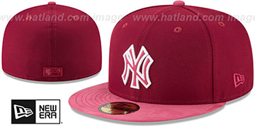 Yankees TONAL-CHOICE Burgundy Fitted Hat by New Era
