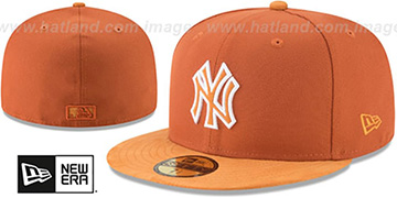 Yankees TONAL-CHOICE Burnt Orange Fitted Hat by New Era
