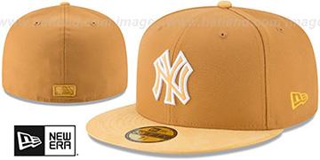 Yankees TONAL-CHOICE Panama Tan Fitted Hat by New Era