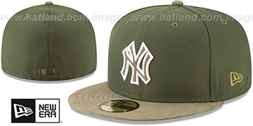 Yankees TONAL-CHOICE Rifle Green Fitted Hat by New Era