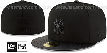Yankees 'TONAL TRICK' Black Fitted Hat by New Era
