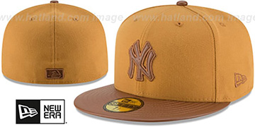 Yankees 'TONAL TRICK' Wheat-Brown Fitted Hat by New Era