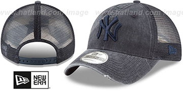 Yankees TONAL-WASHED TRUCKER SNAPBACK Navy Hat by New Era