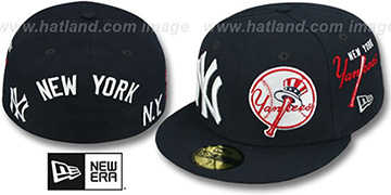Yankees 'TOTAL-LOGO REDUX' Navy Fitted Hat by New Era