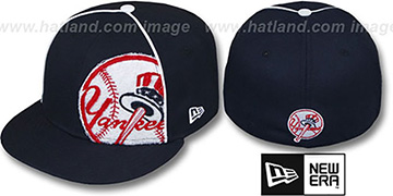 Yankees TRIBULATOR Navy Fitted Hat by New Era