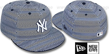 Yankees TRIPPIN White-Navy Fitted Hat by New Era