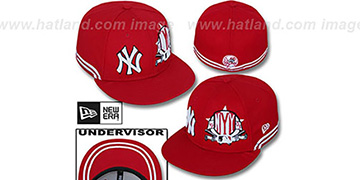 Yankees TWO-BIT Red-White Fitted Hat by New Era