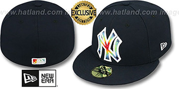 Yankees TYE-DYE INSIDER Navy Fitted Hat by New Era