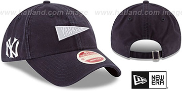 Yankees 'VINTAGE PENNANT STRAPBACK' Navy Hat by New Era