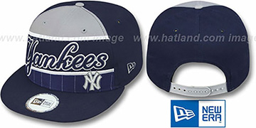 Yankees 'WARM-UP SNAPBACK' Navy-Grey Hat by New Era