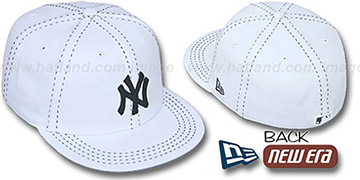 Yankees WHITE PURSE STITCH Fitted Hat by New Era