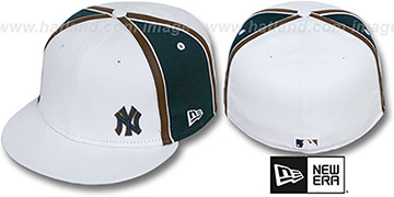 Yankees WILLIAM-III FLAWLESS White-Navy Fitted Hat by New Era