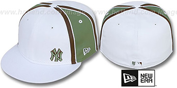 Yankees WILLIAM-III FLAWLESS White-Olive Fitted Hat by New Era