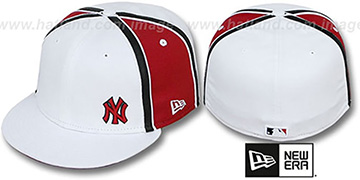 Yankees WILLIAM-III FLAWLESS White-Red Fitted Hat by New Era