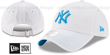 Yankees 'WOMENS POP PREFERRED PICK STRAPBACK' White-Blue Hat by New Era