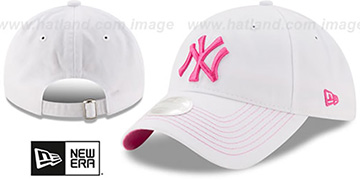 Yankees 'WOMENS POP PREFERRED PICK STRAPBACK' White-Pink Hat by New Era