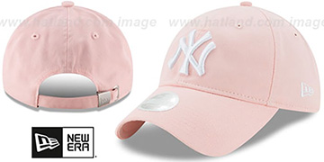 Yankees 'WOMENS PREFERRED PICK STRAPBACK' Light Pink Hat by New Era