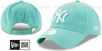 Yankees 'WOMENS PREFERRED PICK STRAPBACK' Mint Hat by New Era