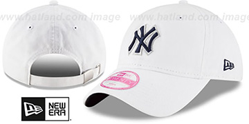 Yankees 'WOMENS PREFERRED PICK STRAPBACK' White Hat by New Era