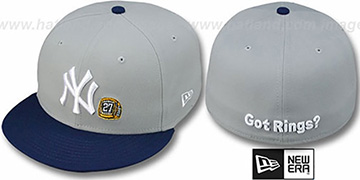 Yankees WS 'GOT RINGS' Grey-Navy Hat by New Era
