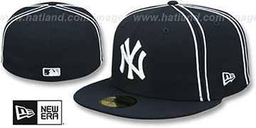 Yankees Y2K SOUTACHE Navy Fitted Hat by New Era