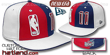 Yao Ming 'DOUBLE WHAMMY' Red-Navy-white Fitted Hat