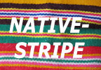 Native-Stripe Snapbacks
